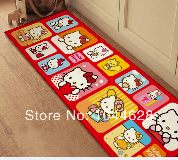 Hello kitty carpet rug mat for home bedroom decor bedside living room floor pink rug flannel fabric four design chioce