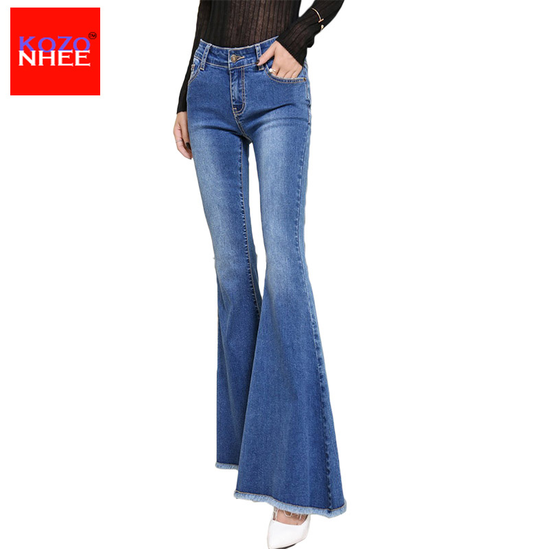 KOZONHEE Stretching Bell-Bottoms Jeans s