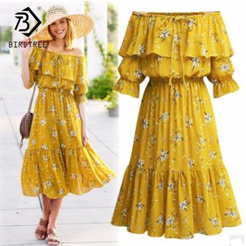 Plus 5XL 2018 Fashion Spring Women's <font><b>Dresses</b></font> Female Casual <font><b>Sexy</b></font> Slim Sweet Slash-Neck Fashion Loose Print Tops <font><b>Hots</b></font> D86923L image