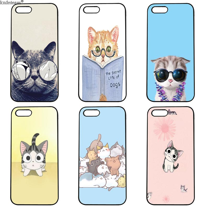 Mobile Phone Case Meow Lovely Cute Cat Hard Anti-knock Cover Fitted for iphone 8 7 6 6S Plus X 5S 5C 5 SE 4 4S iPod Touch 4 5 6