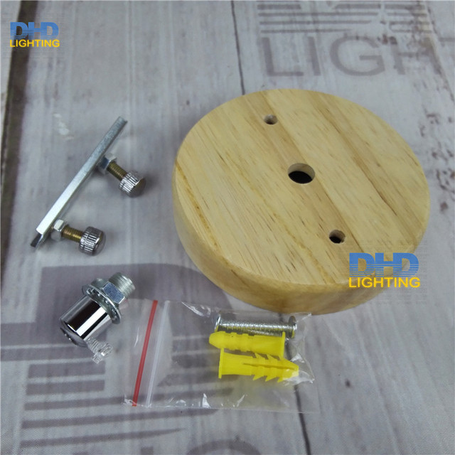 Free Ship 100mm Wooden Pendant Lamp Holder Plate Diy Wood Ceiling