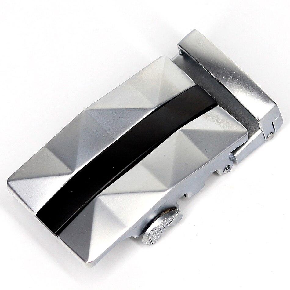 2019 Men's Unique Black Gray Combination Belt Buckle Comfort Ratchet Buckle Click Buckle