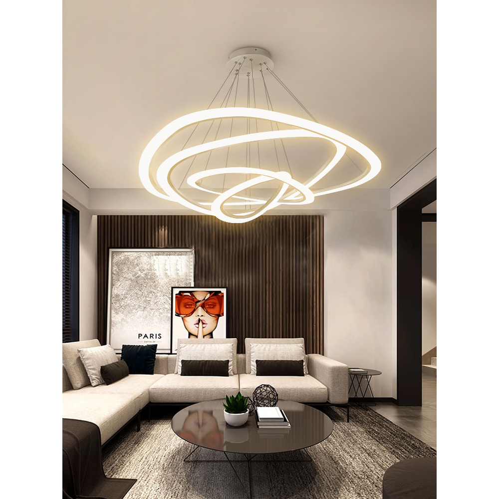 Us 210 16 29 offnew modern led pendant lights for living room dining room circle rings acrylic hanglamps lighting ceiling lamp fixtures in pendant