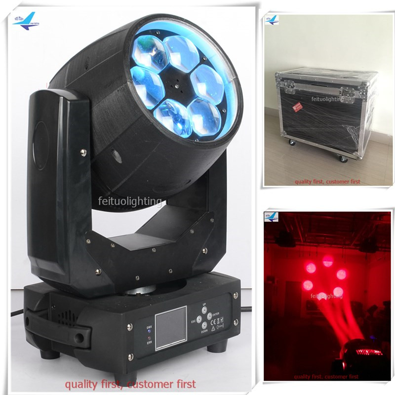 цены free shipping 6Xlot flycase Zoom Wash Led Lyre Beam Bee Eye 6x40w Moving Head Light RGBW High Power Stage Disco DJ DMX Lighting