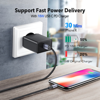 Fast Charger Ugreen MFi USB C Lightning Cable for iPhone X XS Max XR 18W PD  1