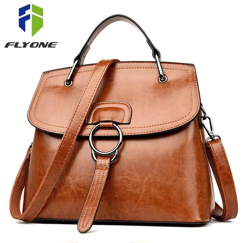 FLYONE Casual Women Bag Handbag Bags for Women 2019 Leather Shoulder Bag Pink Tote Bag Lady