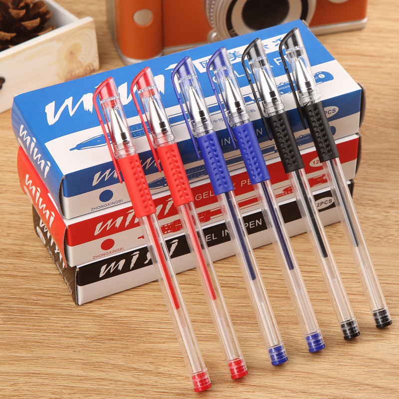 Korean Gel Pens Business Signature Office School Supply Sign Student Exam Stationary Stationery Store Thing Blue Red Black Tools