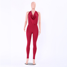 DRESSMECB Catsuit Sleeveless Backless Deep V Jumpsuits Summer Women Rompers Female Sexy Club Overalls Romper Macacao Feminino(China)