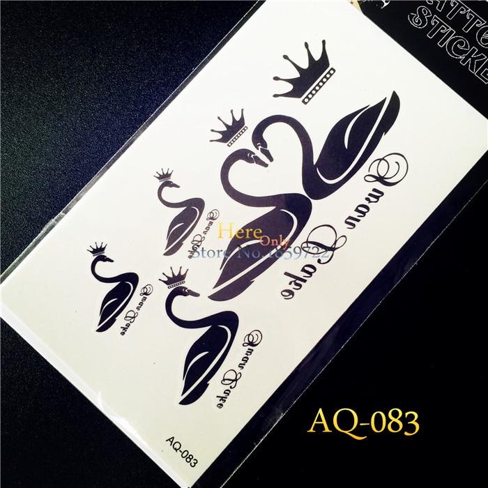 Impermeable falso tatuaje Adhesivos haq83 del cisne negro Queen ...