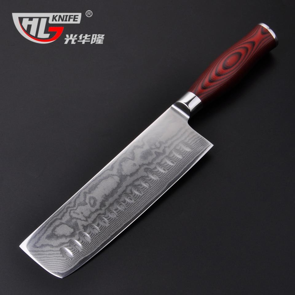Damascus kitchen knives Nakiri knife for cooking