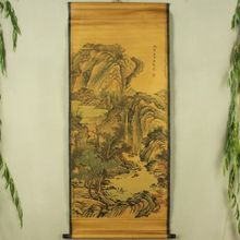 China Antique collection Boutique Calligraphy and painting Landscape painting diagram