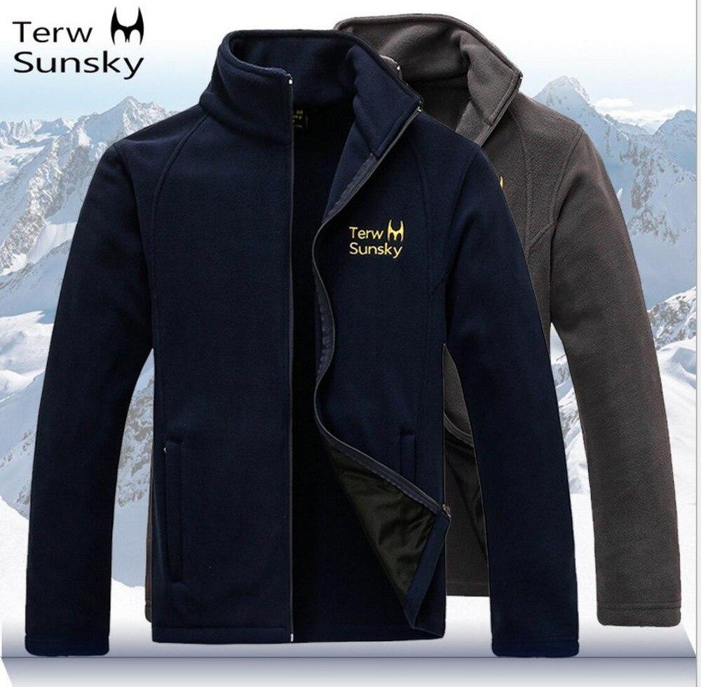 Бесплатная доставка-Новости terwsunsky HQ Для мужчин весна/осень тонкие спортивные верхняя одежда флис Куртки tr023
