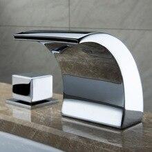 Superfaucet Temperature Controlled Faucet Water Tap Bathroom Waterfall Faucet Bathroom Faucets LED Faucet HG-1182DC