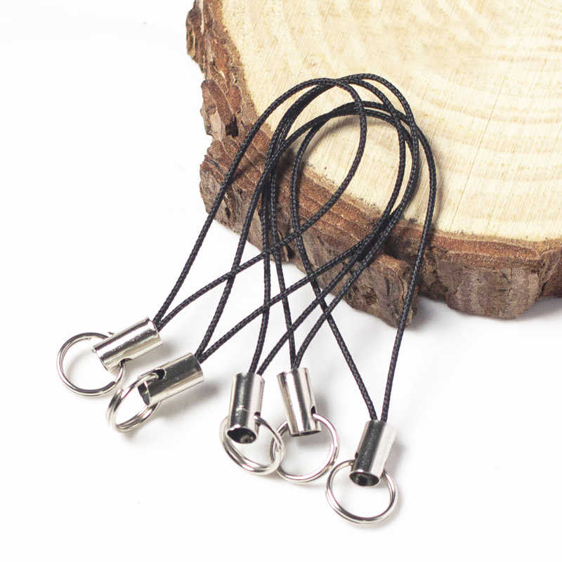 20pcs/lot Thread Cord Key Ring DIY Bag Key Ring Bags Toys Hanger Clips Key Holder Keychain DIY Keyfob DIY KeyChain Accessories