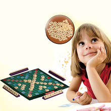 English French Version Puzzles Board Spelling Scrabble Board Game Crossword Spelling Game For Kids Puzzles Board Table funny tycoon foldable tool box games crossword board spelling games word matching anagrams children teaching aid