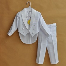 Christmas-Suits Baptism Baby-Boy Wedding Party Formal Wear 5-Piece 0-10T White/black