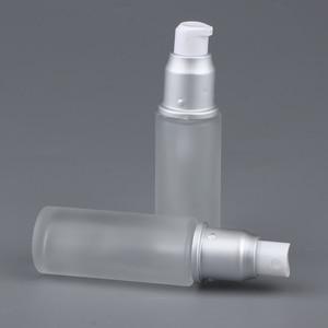 2Pcs Empty Refill Glass Bottle Lotions Serum Pump Dispenser Travel Storage Container Cosmetics Bottles Perfume Atomizer Bottle(China)
