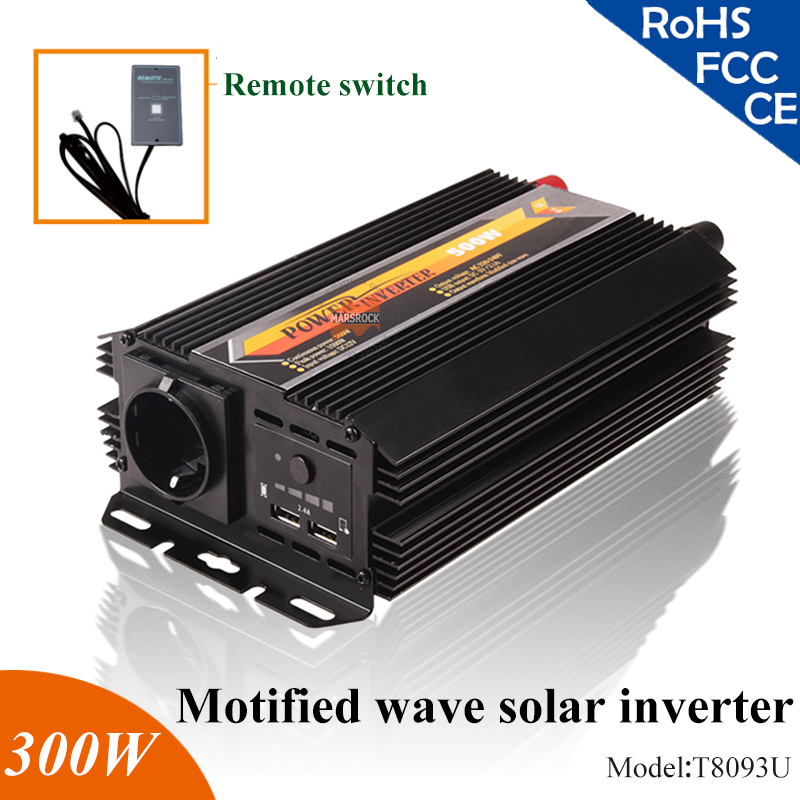 300W 12V 24V modified sine wave solar inverter off grid solar inverter for home,car,mobile 100w 12v monocrystalline solar panel for 12v battery rv boat car home solar power