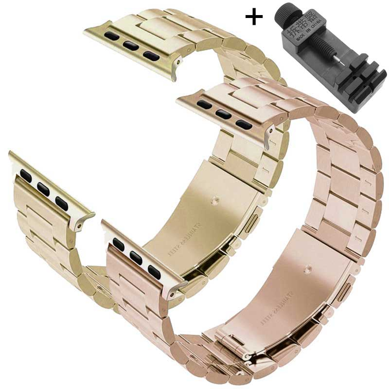Brand Sport Strap For Apple Watch Band 38mm 42mm Iwatch 3 2 1 Stainless Steel Wrist band Link bracelet Watch band Strap butterfly lock link bracelet watch band strap for apple watch 38mm 42mm stainless steel