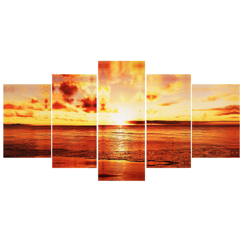 5pcs/set Large Seaside Sunset Canvas Wall Art Print Painting Picture .  sc 1 st  Fastingforourfuture.org & Luxury Sunset Canvas Wall Art Sketch - Wall Art Collections ...