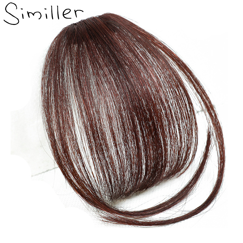 Similler Fringes Bangs Hair-Extensions Fake-Hair Front-Neat Clip-In Temples Straight
