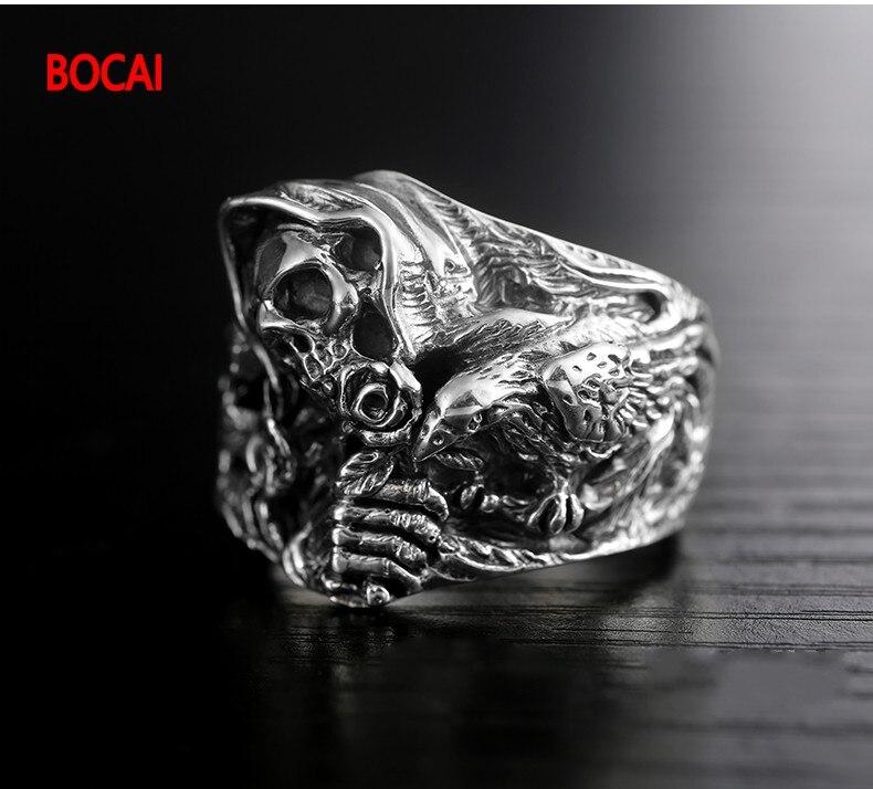 925 стерлингового серебра подлинные восточные вибрации новое кольцо с драконом - 2