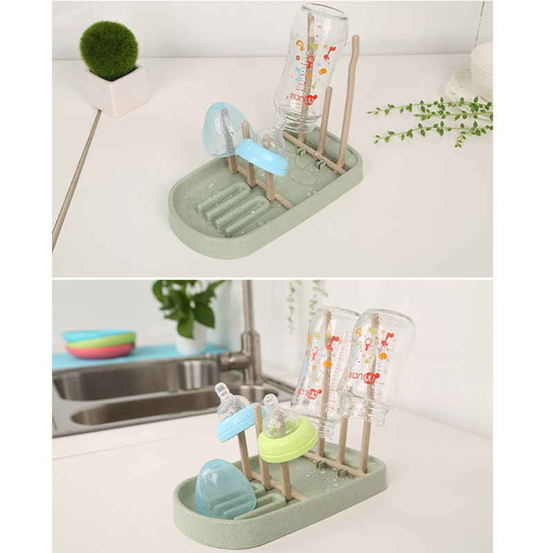 Foldable Baby Infant Feeding Bottle Cup Rack Drying Storage Drainer Stand Holder W15