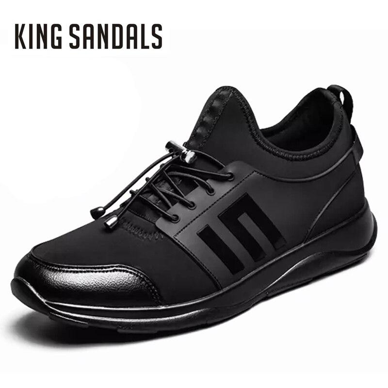 Chaussures En Cuir Pour Hommes Véritable Hauteur Des Hommes En Daim En Cuir Chaussures De Plus En Plus Pour Les Hommes (41, Brun Foncé)