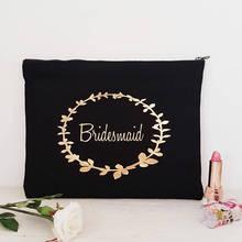 Personalizar nombre título vintage boda novia maquillaje cosméticos bolsas dama de honor regalo de dama de honor para bolsas de fiesta nupcial