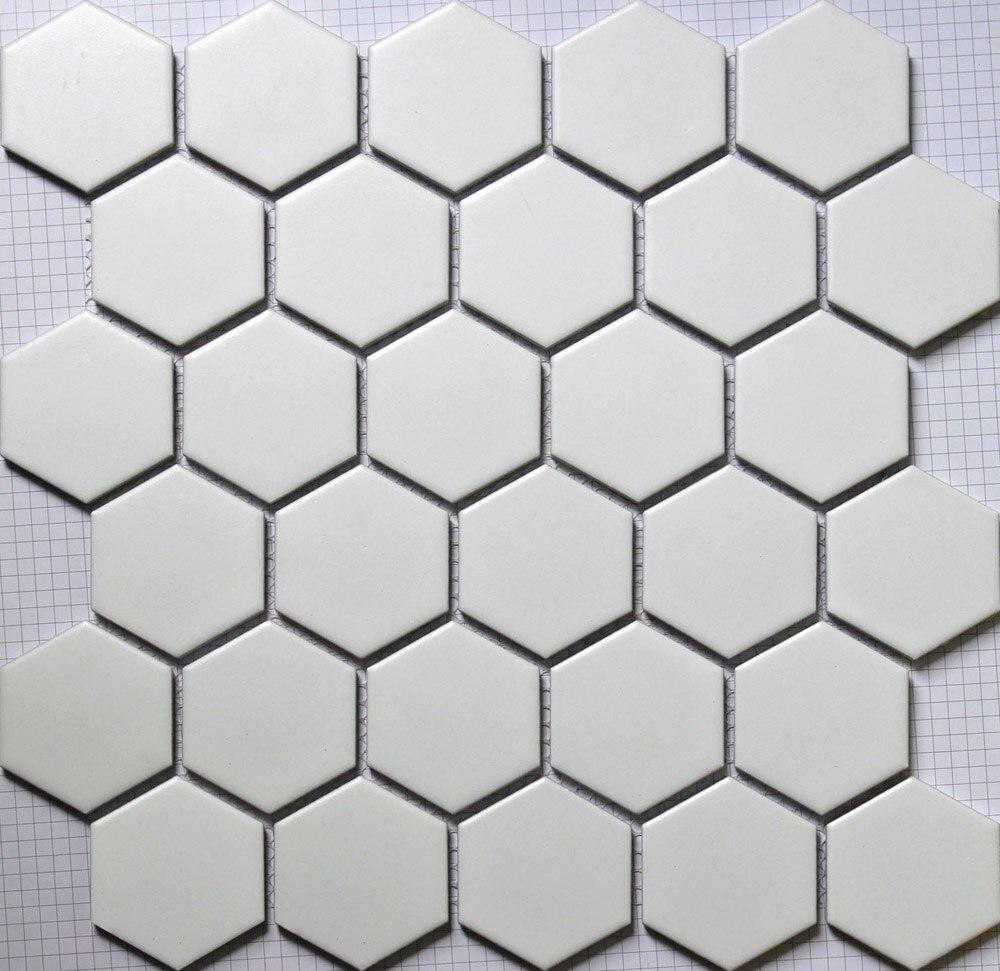 11PCS white hexagon ceramic mosaic tile kitchen backsplash shower bathroom swimming pool wall paper tiles shower background