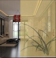 New Chinese Style Hanging Screen Soft Cut Entrance Shutter Door Curtain Creative Roller Orchid BiomboSirma Partition