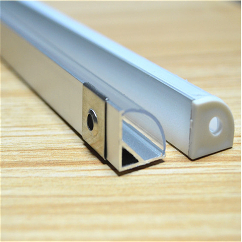 2-30pcs/lot 0.5m/pc 45 degree corner aluminum profile for 5050,3528  led strip,milky/transparent cover for 10mm pcb 1002 free shipping new arrival 35pcs pack 2m pcs led aluminum profile for led strips with milky or transparent cover and accessories