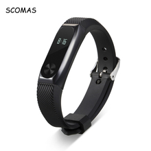 SCOMAS Silicone Strap for Xiaomi Miband 2 Smart Bracelet Wristband Replace Metal Frame Watch Band Belt for Xiaomi Mi Band 2
