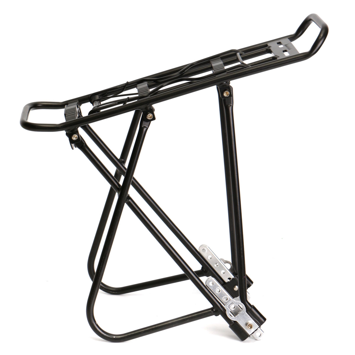 OUTERDO Aluminum Alloy MTB Road Bike Rear Rack 4 Point Adjustable Mounting System Bicycle Rear Rack Cycling Spring Clamp Racks