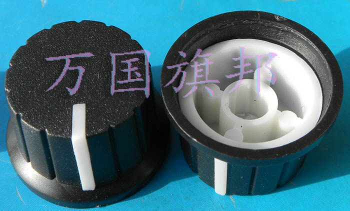 Free Delivery. Potentiometer Knob Environmental Protection Plastic High 15 Mm Diameter 24 Mm Black And White