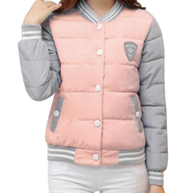 2016 Winter jacket Womens Coat Warm Parka Patchwork Long Sleeve Womens Jackets And Coat Outwear Femal Parkas Manteau Femme