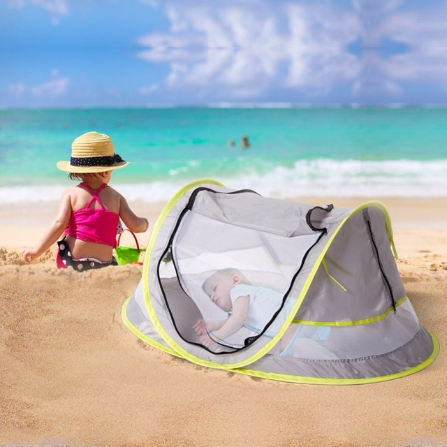 Baby Travel Bed Portable Beach Tent Upf 50 Sun Shelter Pop