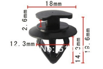 Se encaixa em 12.3mm buraco rebite plástico auto fastener fixadores carro caso para BMW