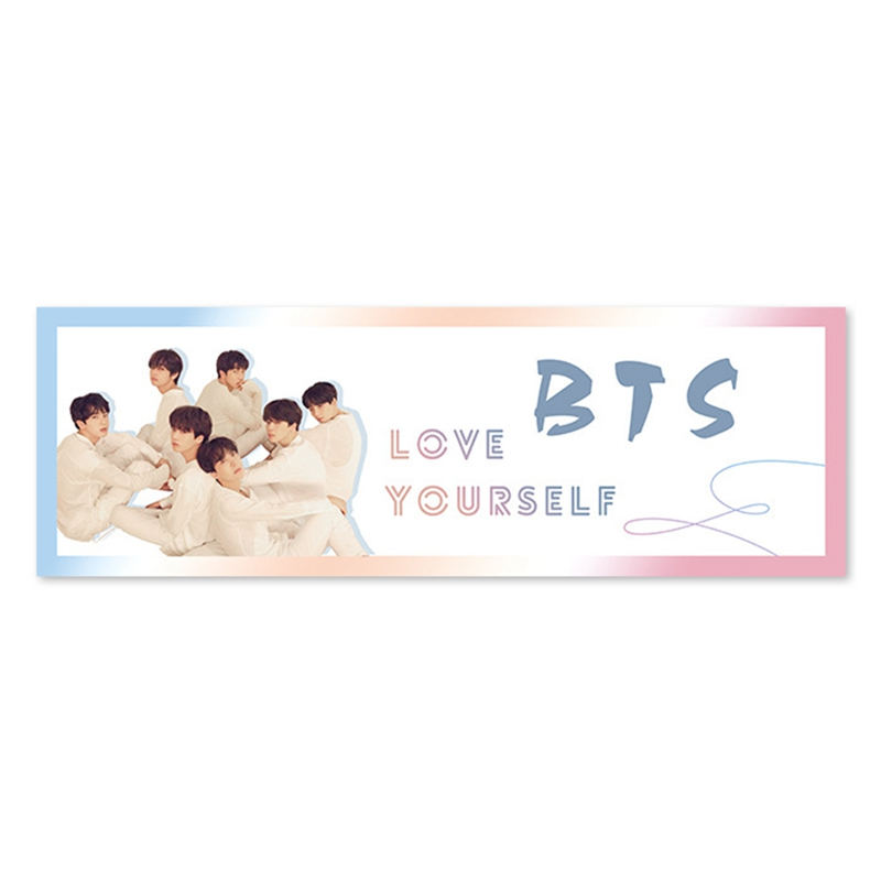K-pop Wanna One BTS Love Yourself Tear Concert Support Hand Fabric Banner Hang Up Statio ...