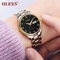 OLEVS брендовые роскошные женские часы из нержавеющей стали  женские часы с подсветкой  кварцевые женские часы с кожаным ремешком  водонепрон...