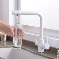 1PCS Copper Kitchen Filter Purifier Faucet Three Use Baking Lacquer Basin Drinking Water Faucet Container Basin Mixing Faucet