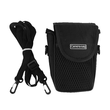 3 Size Camera Bag Case Compact Camera Case Universal Soft Bag Pouch + Strap Black For Digital Cameras 2
