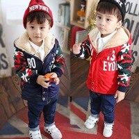 Baby Boy Winter Outwear Infant Jackets Kids Parkas Baby Winter Cotton Coats Children Jackets Trendy Blue