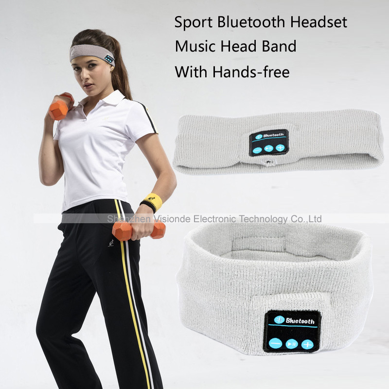Smart Wearable Headphone Stereo Music Bluetooth Wireless Headset With mic Answer Call 2