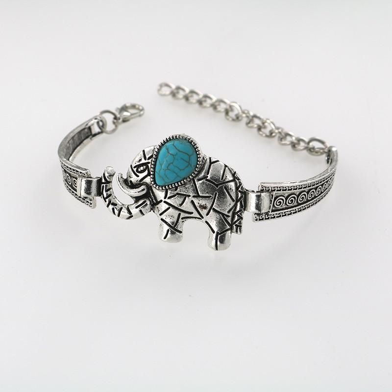 Heißer Verkauf Elefant Armband für Frauen Vintage Armbänder & - Modeschmuck - Foto 4
