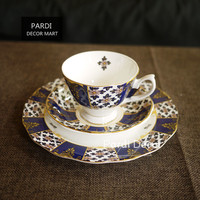 Bone China Palace Style Coffee Mug tea cup saucer/ plate home use wedding gift art decorations 1pc/lot
