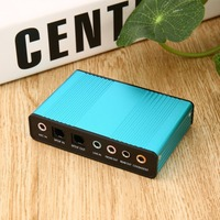 High Quality Professional External USB Sound Card Channel 5 1 7 1 Optical Audio Card Adapter