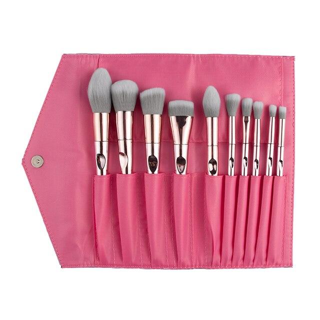 New Arrival Brushes 10pcs Pink Makeup Brushes Sets Make Up Brush Cosmetic Beauty Blush Powder Foundation Concealer Brushes set 6