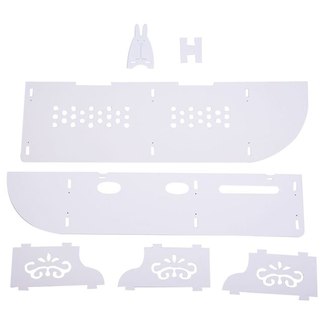holle gesneden 2 tier drijvende muur planken skybox cd dvd boekenkast opslag unit wit
