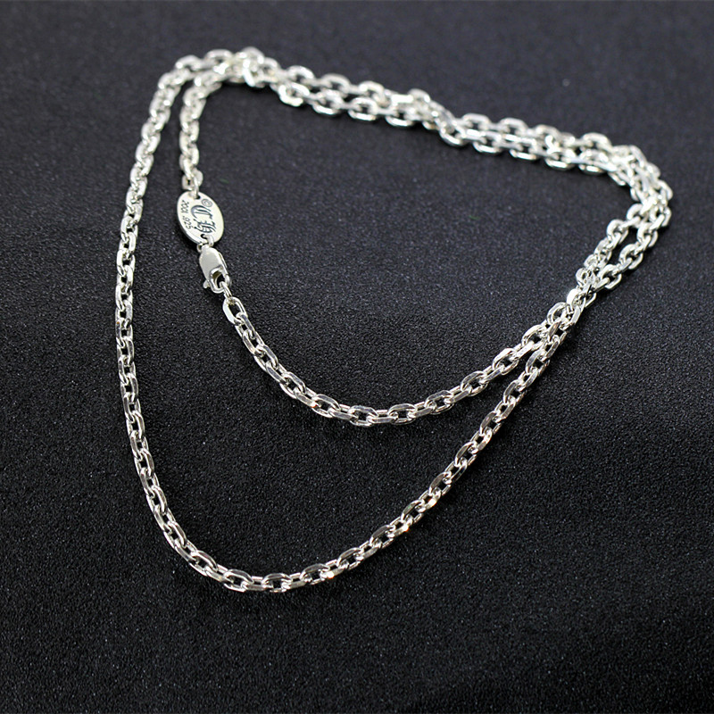 of silver products Thai silver wholesale S925 pure silver ornaments atmosphere O in both men and women necklace o products catnail men инструмент для пыток кровопускатель